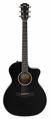 Taylor 214CE BLK Deluxe Grand Auditorium Acoustic Electric Black Bundle