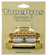 Tone Pros Tunamatic Bridge Tailpiece Set Gold