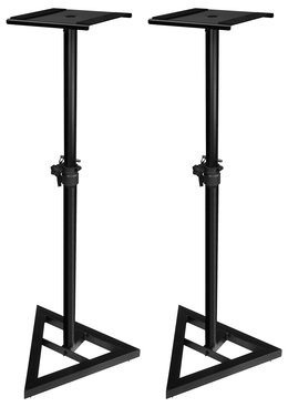Ultimate Support JS MS70 Adjustable Monitor Stand Pair Black