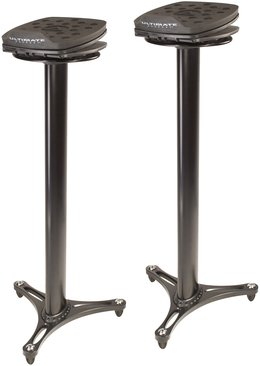 Ultimate Support MS100B Studio Monitor Stands Black Pair