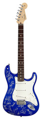 Pre-Owned Fender 2005 American Standard Stratocaster Blue Cleveland Indians Autographed