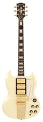 Pre-Owned Gibson Custom Shop SG Custom with Maestro Vibrato Classic White
