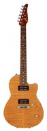 Pre-Owned Tom Anderson 2005 Atom Flame Top Translucent Amber