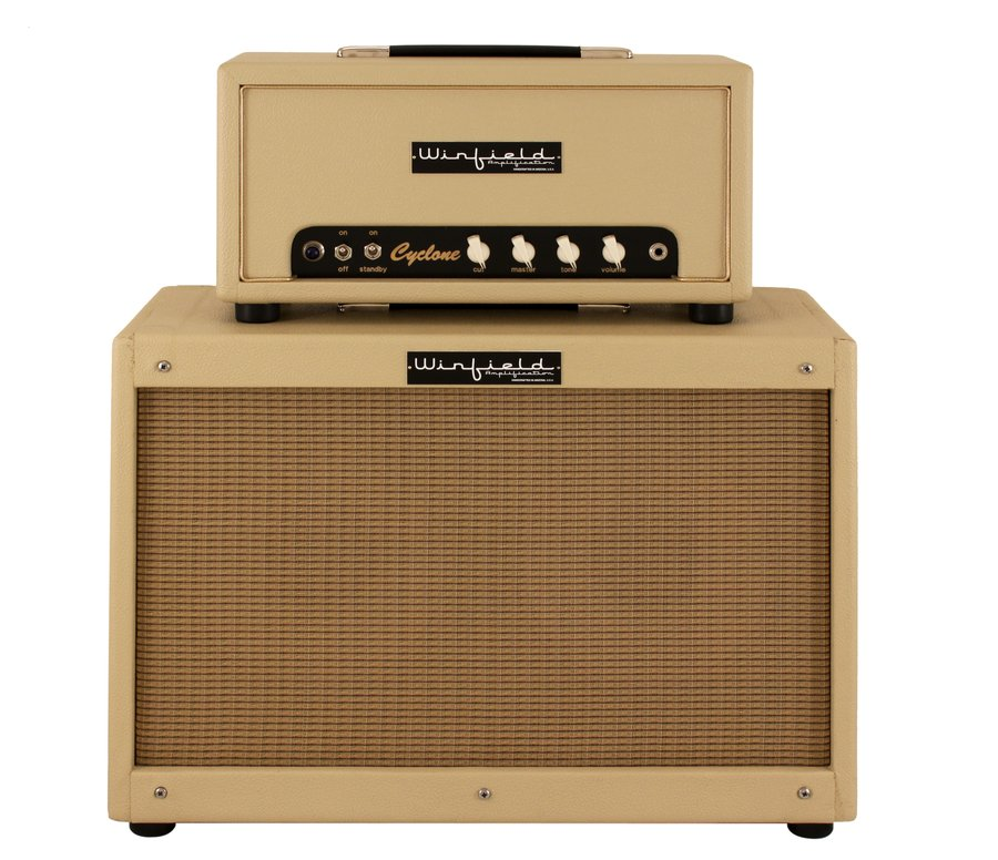 winfield cyclone amplifier head and 2x10 cabinet blonde rainbow guitars. Black Bedroom Furniture Sets. Home Design Ideas