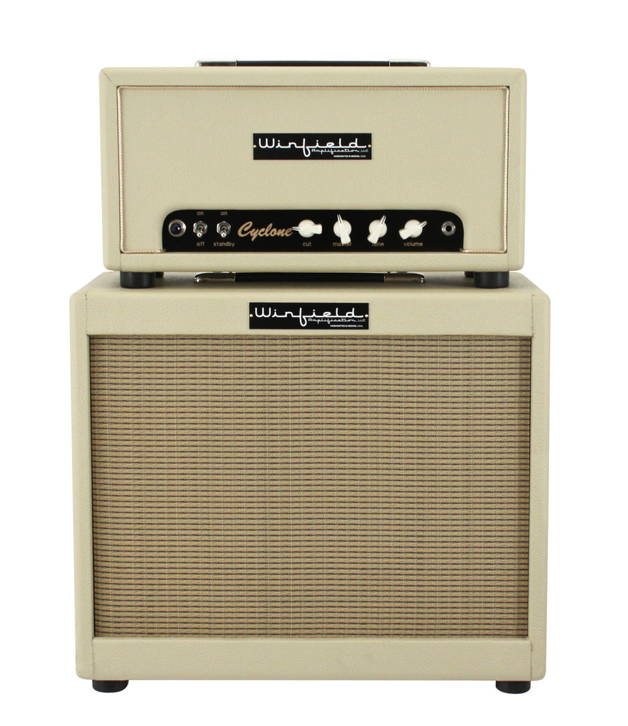 winfield cyclone amplifier head and 1x12 cabinet blonde rainbow guitars. Black Bedroom Furniture Sets. Home Design Ideas