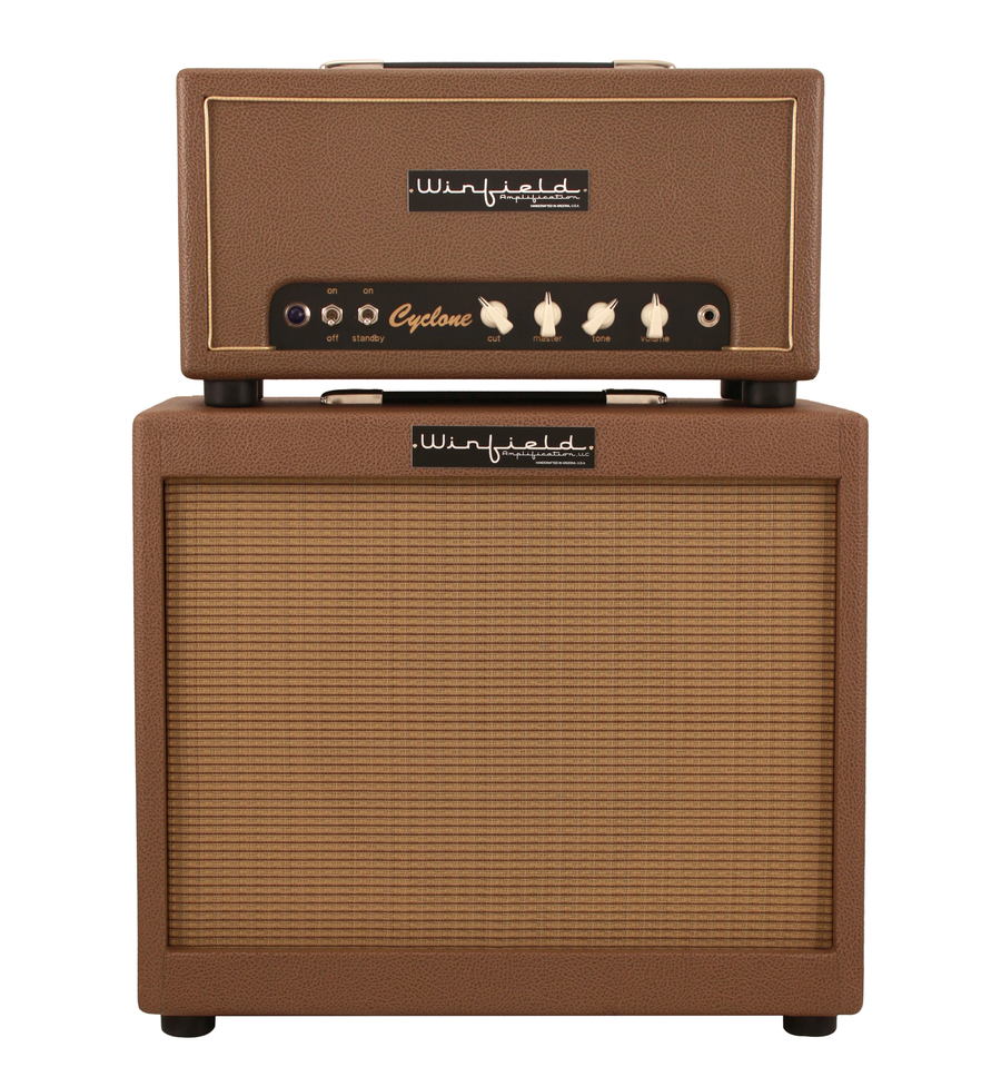 winfield cyclone amplifier head and 1x12 cabinet coco rainbow guitars. Black Bedroom Furniture Sets. Home Design Ideas