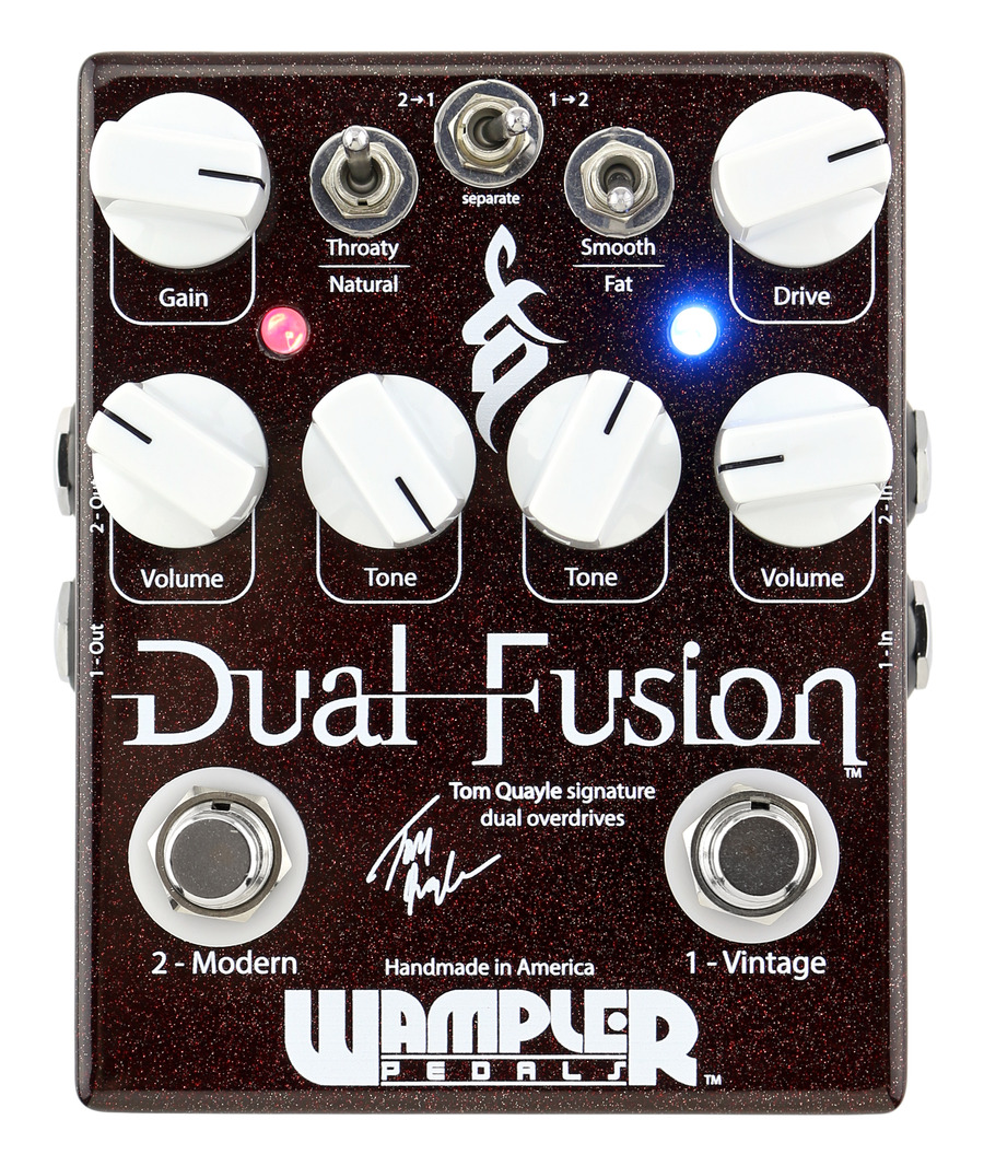 wampler dual fusion tom quayle overdrive pedal rainbow guitars. Black Bedroom Furniture Sets. Home Design Ideas