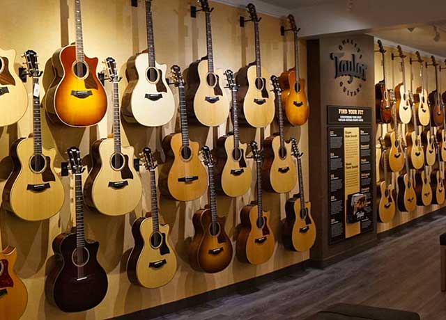 Rainbow Guitars Taylor Store