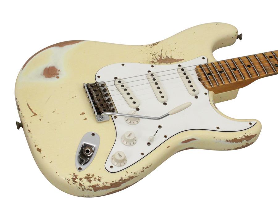 Fender Custom Shop 1969 Stratocaster Heavy Relic Reversed Headstock Aged Vintage White