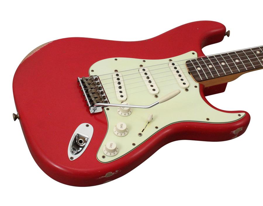 Fender Custom Shop 1963 Stratocaster Heavy Relic Faded Dakota Red 2013