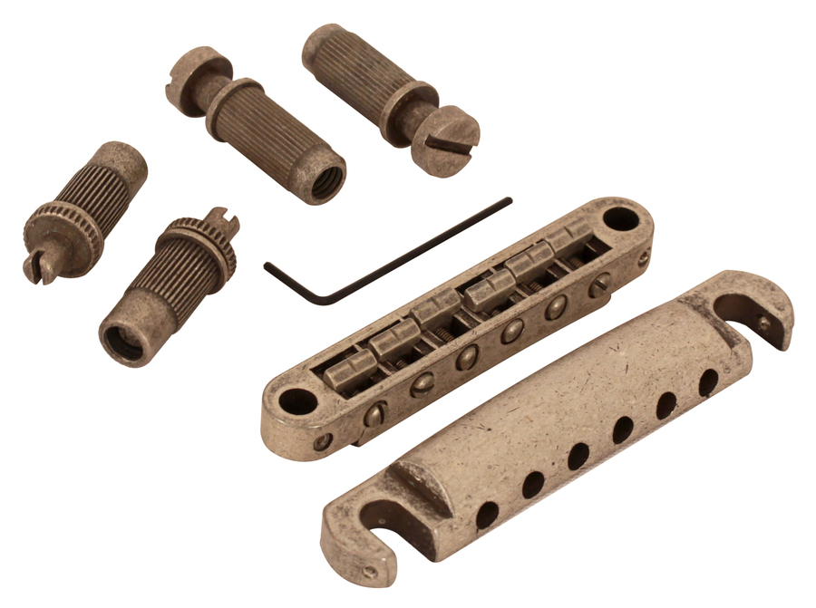 Tone Pros Aged Metric Nickel Tunamatic Bridge Tailpiece Set