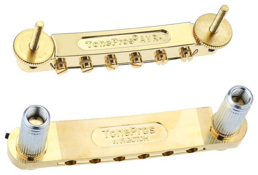 Tone Pros Tunamatic Bridge Tailpiece Set Gold
